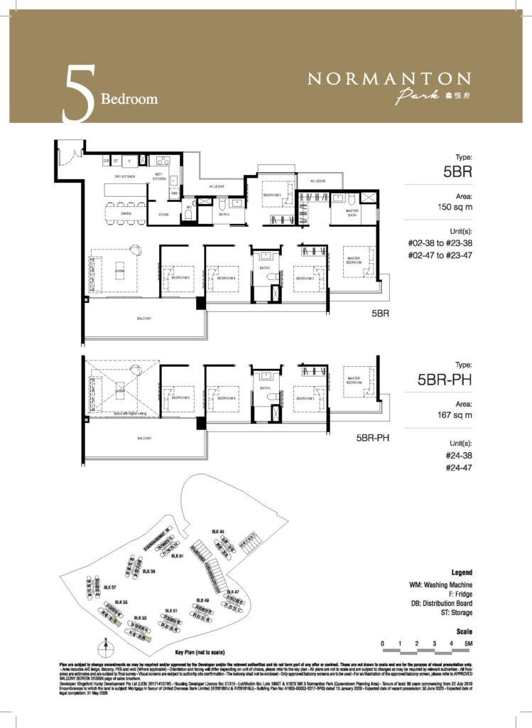 normanton park 5 bedroom unit floor plan