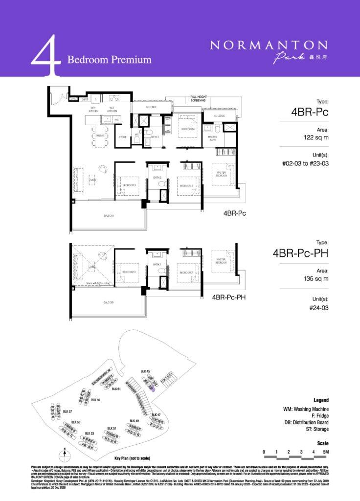 normanton park 4 bedroom unit floor plan