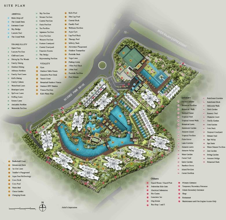 normanton park condo site plan layout