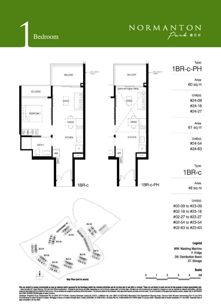 normanton park 1 bedroom floor plan unit