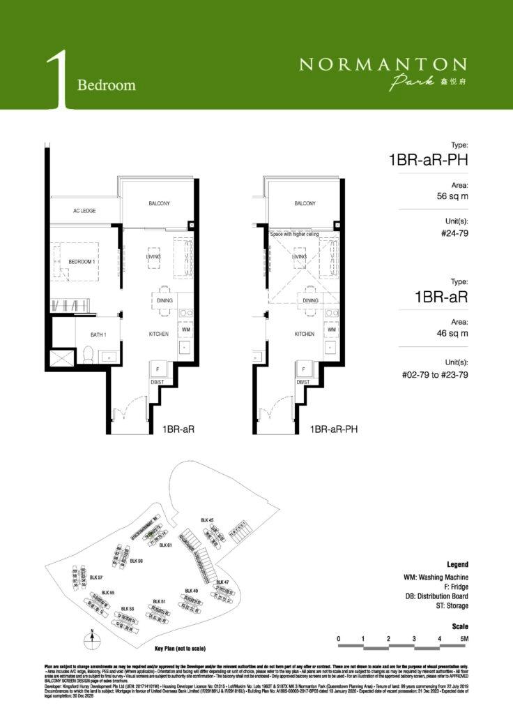 normanton park 1 bedroom condo unit
