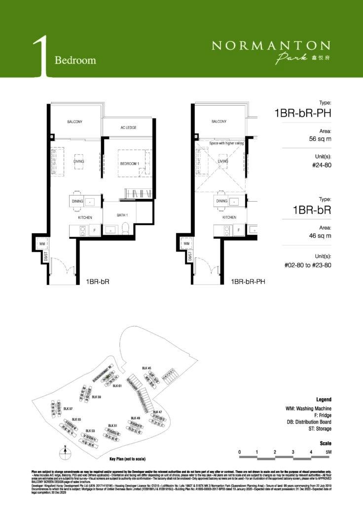 normanton park 1 bedroom unit floor plan